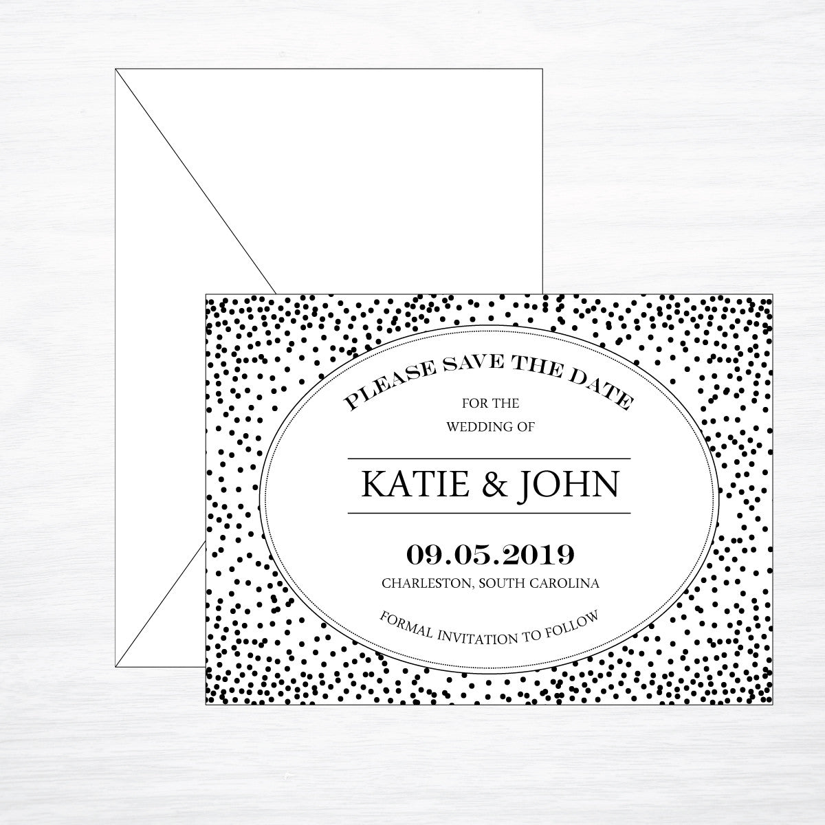 Dot | Wedding Save the Date - shop greeting cards, handmade stationery, & wedding invitations by dodeline design - 1