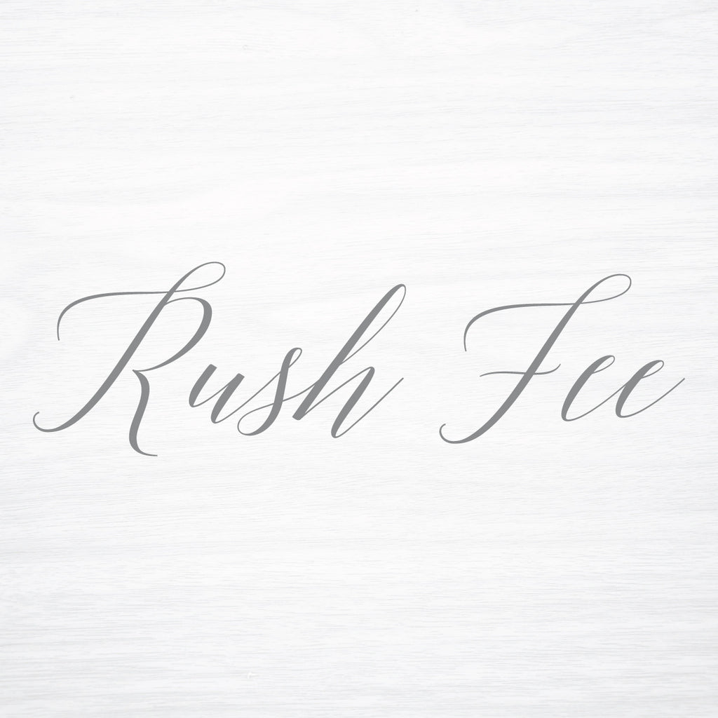 RUSH Fee - shop greeting cards, handmade stationery, & wedding invitations by dodeline design