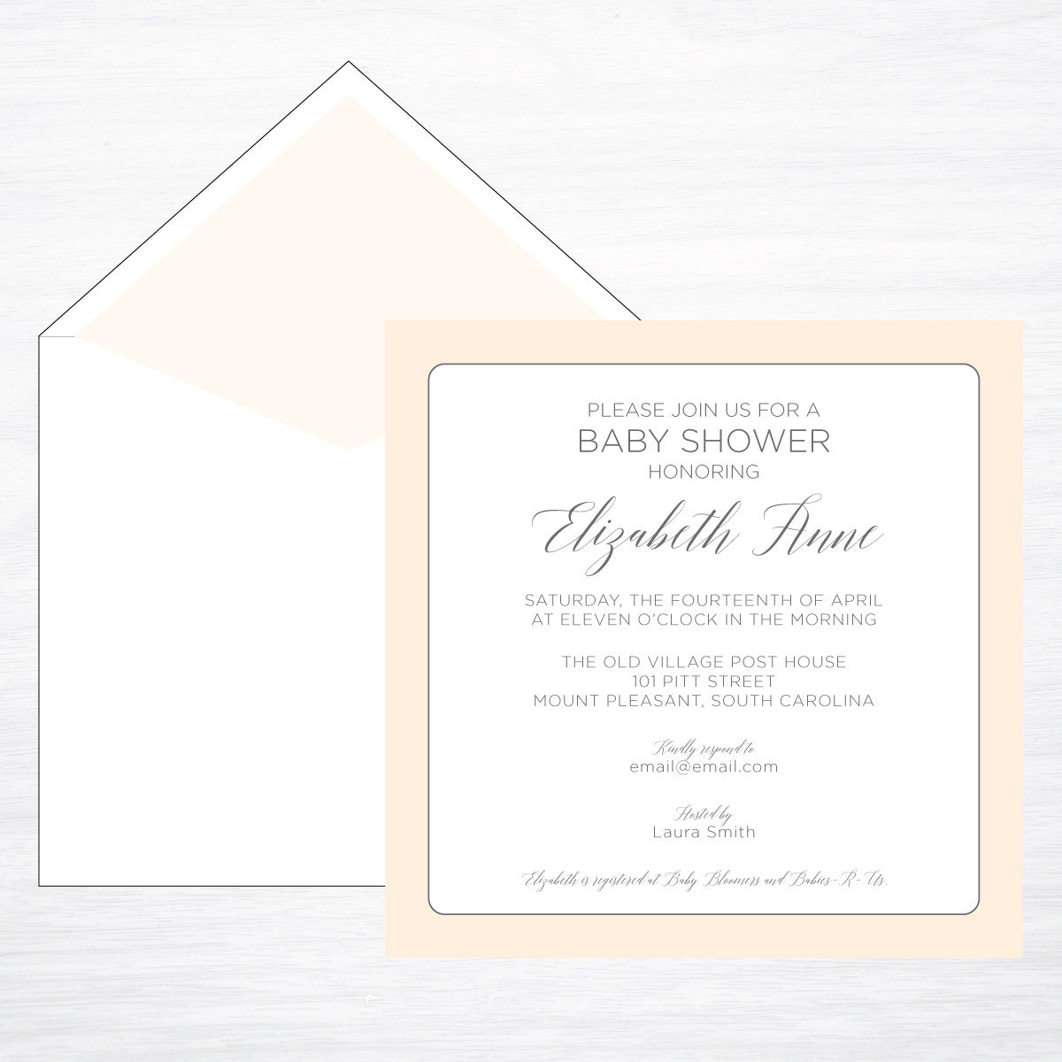 Square | Blush - shop greeting cards, handmade stationery, & wedding invitations by dodeline design
