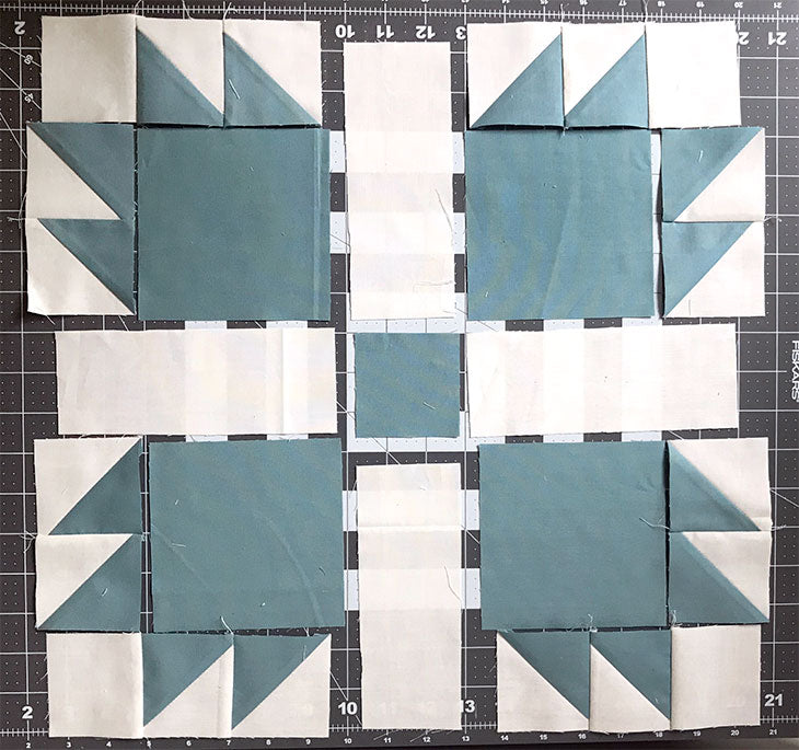 Bear's Paw quilt block tutorial, 15""