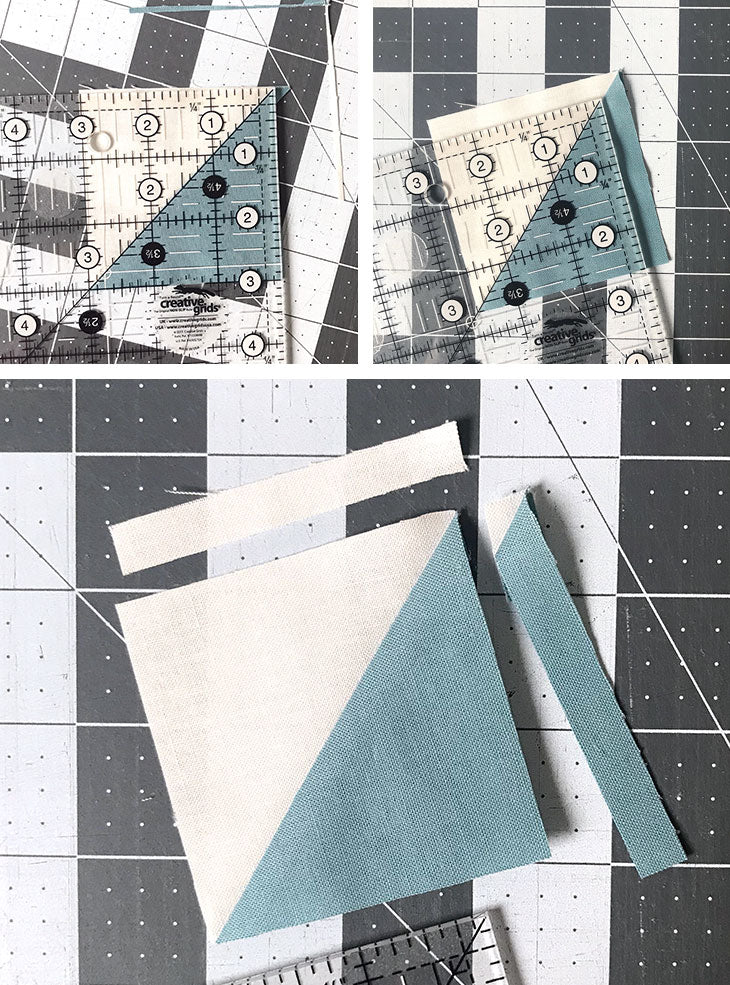 Bear's Paw quilt block tutorial, 15-inch