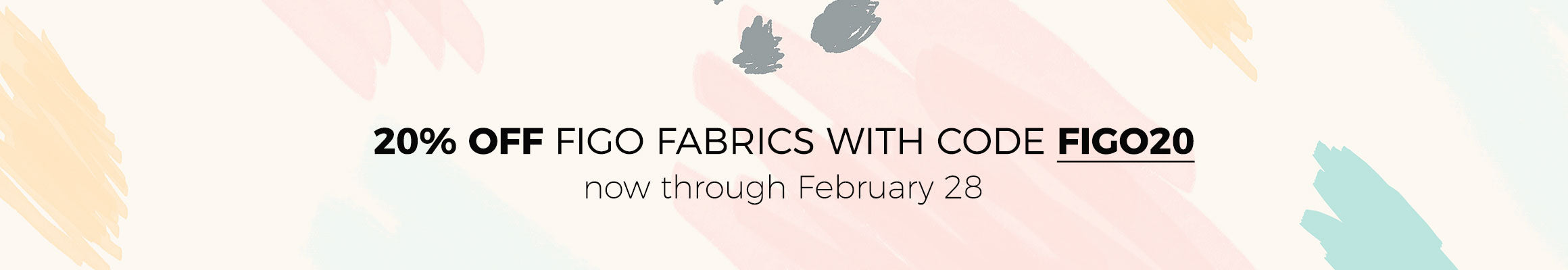 20% off in-stock prints from FIGO Fabrics with coupon code FIGO20. Now through February 28, 2019.