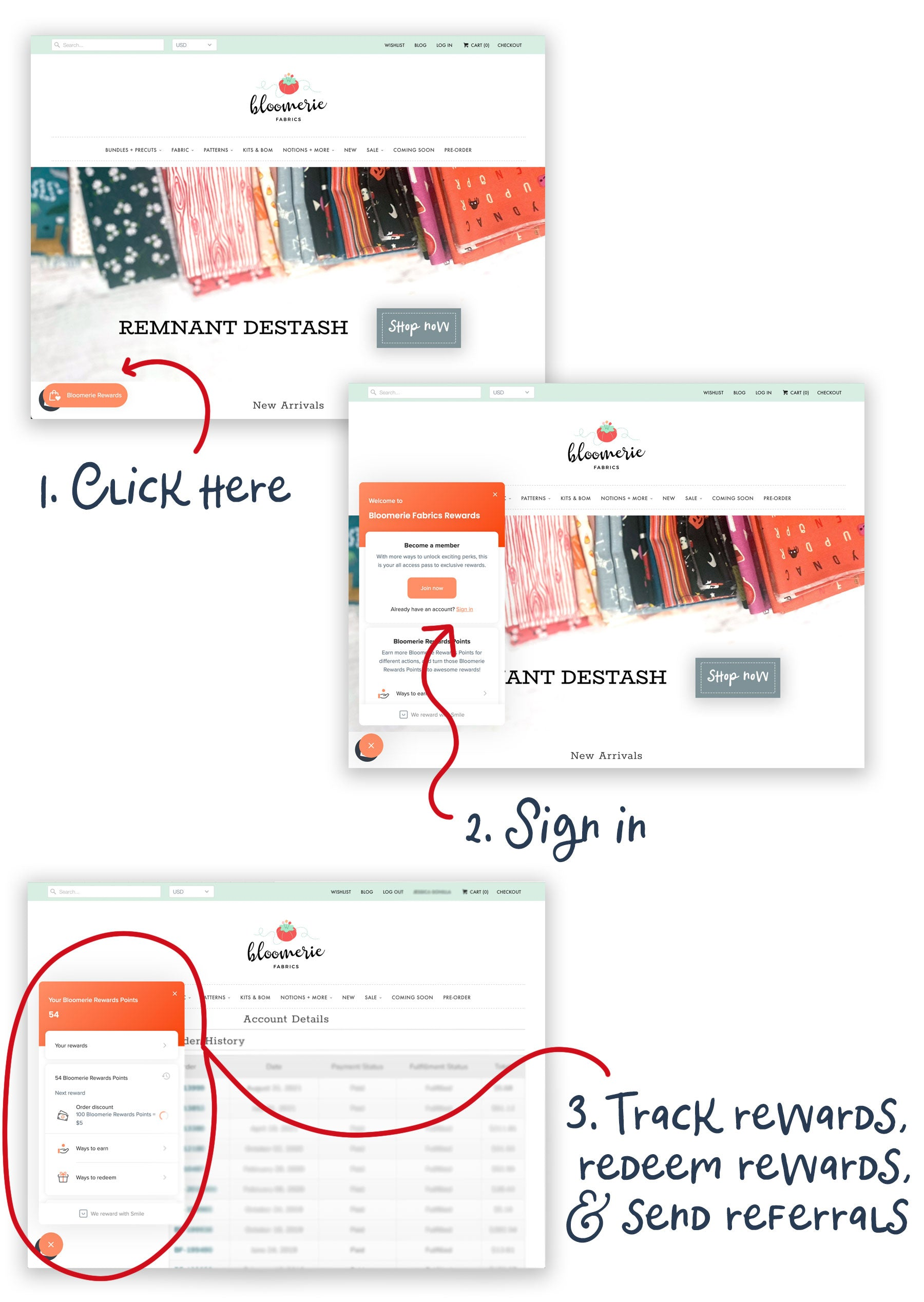 How to log in and redeem Bloomerie Rewards