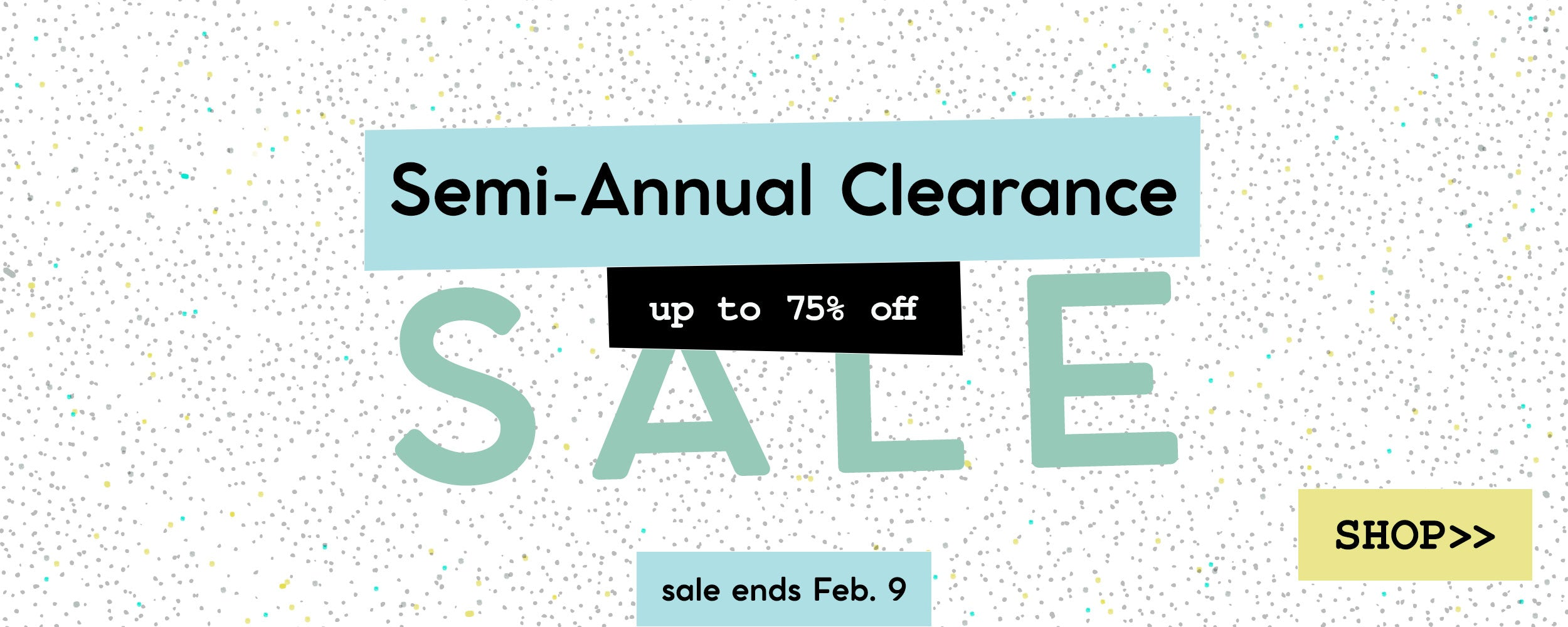 Semi-Annual Clearance Sale - shop fabric, precuts, patterns, and notions - up to 75% off
