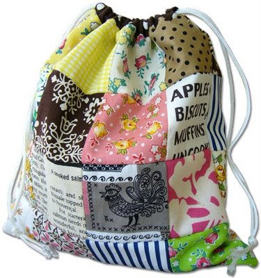 Reversible Patchwork Bag tutorial by Pink Penguin
