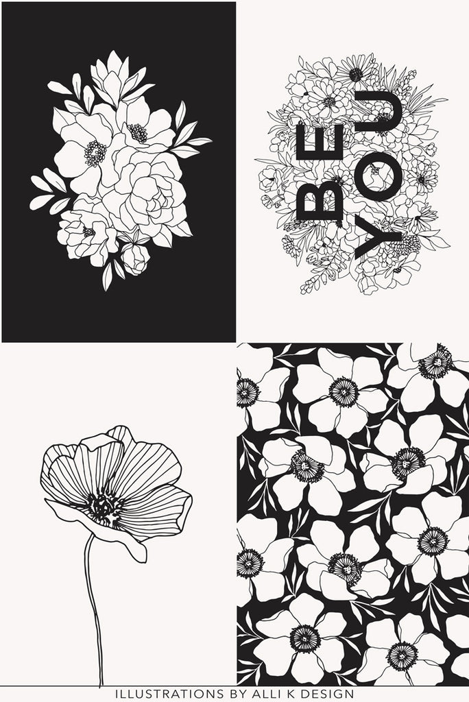 Illustrations Floral panel print