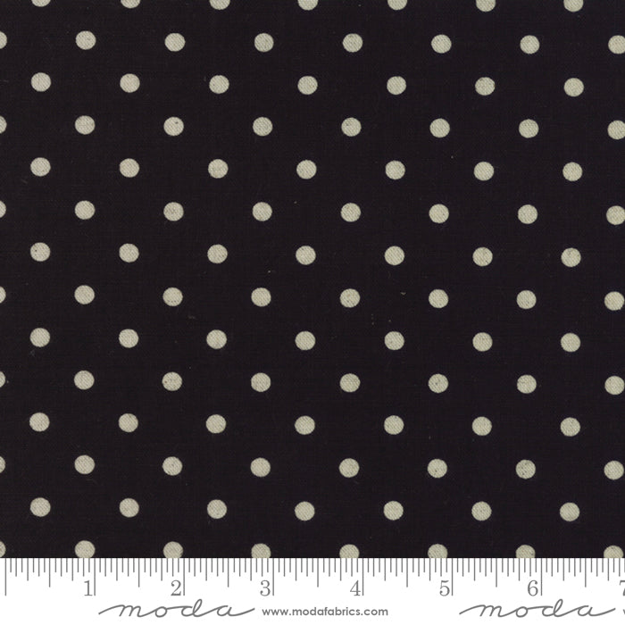 Mochi Linen, Mochi Dot in Black