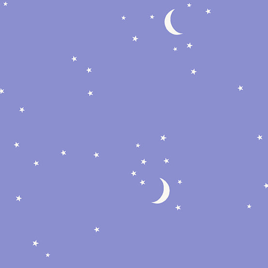 Moon and Stars in Periwinkle