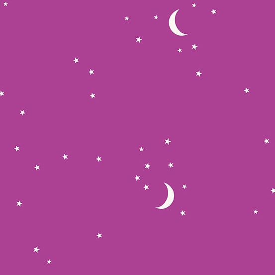 Moon and Stars in Mulberry