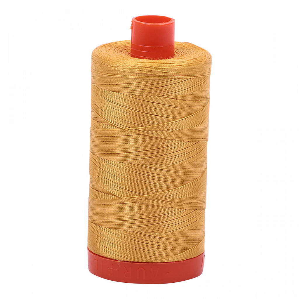 Aurifil 50wt Cotton Mako thread (1422-yard spool) - Tarnished Gold