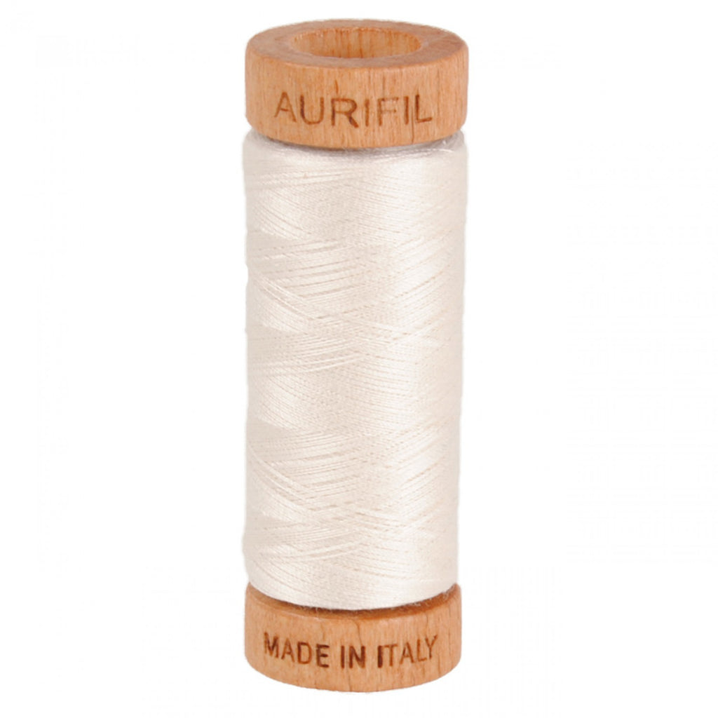 Aurifil 80wt Cotton Mako thread (300-yard spool) - Muslin