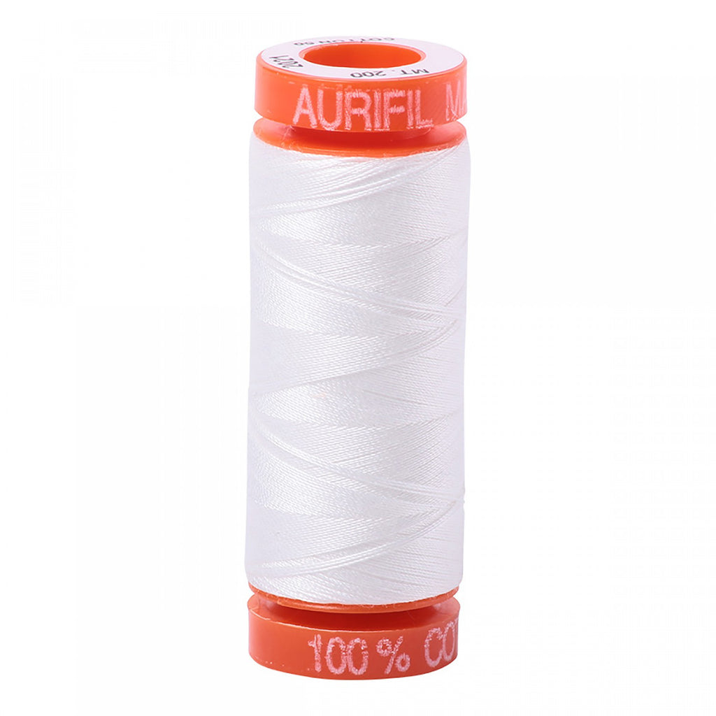 Aurifil 50wt Cotton Mako thread (220-yard spool) - Natural White