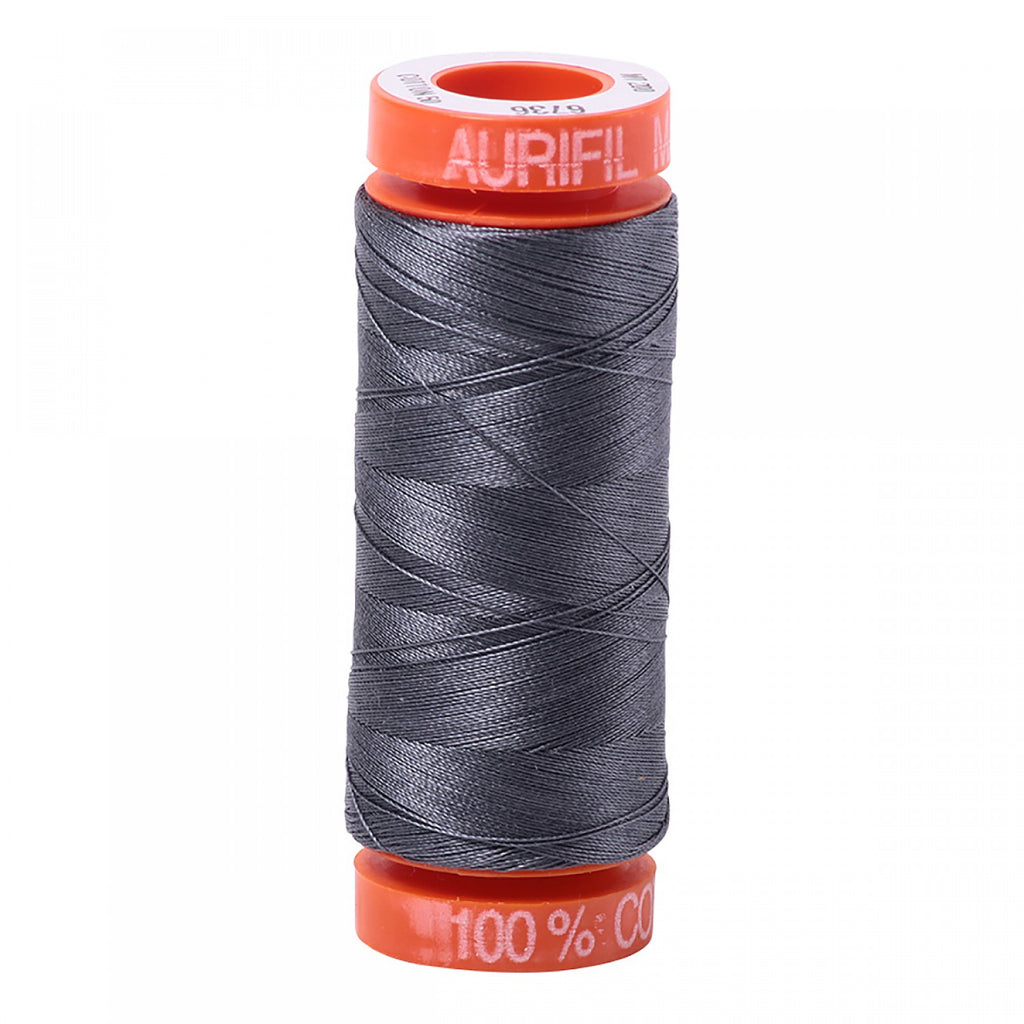 Aurifil 50wt Cotton Mako thread (220-yard spool) - Jedi