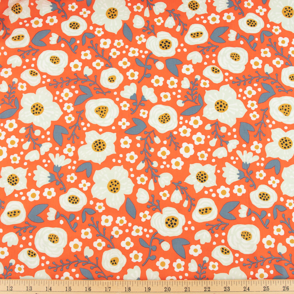 Bella Cotton Lawn, Donna in Bright Coral