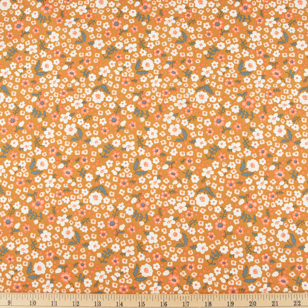 Bella Cotton Lawn, Bella Petite in Caramel