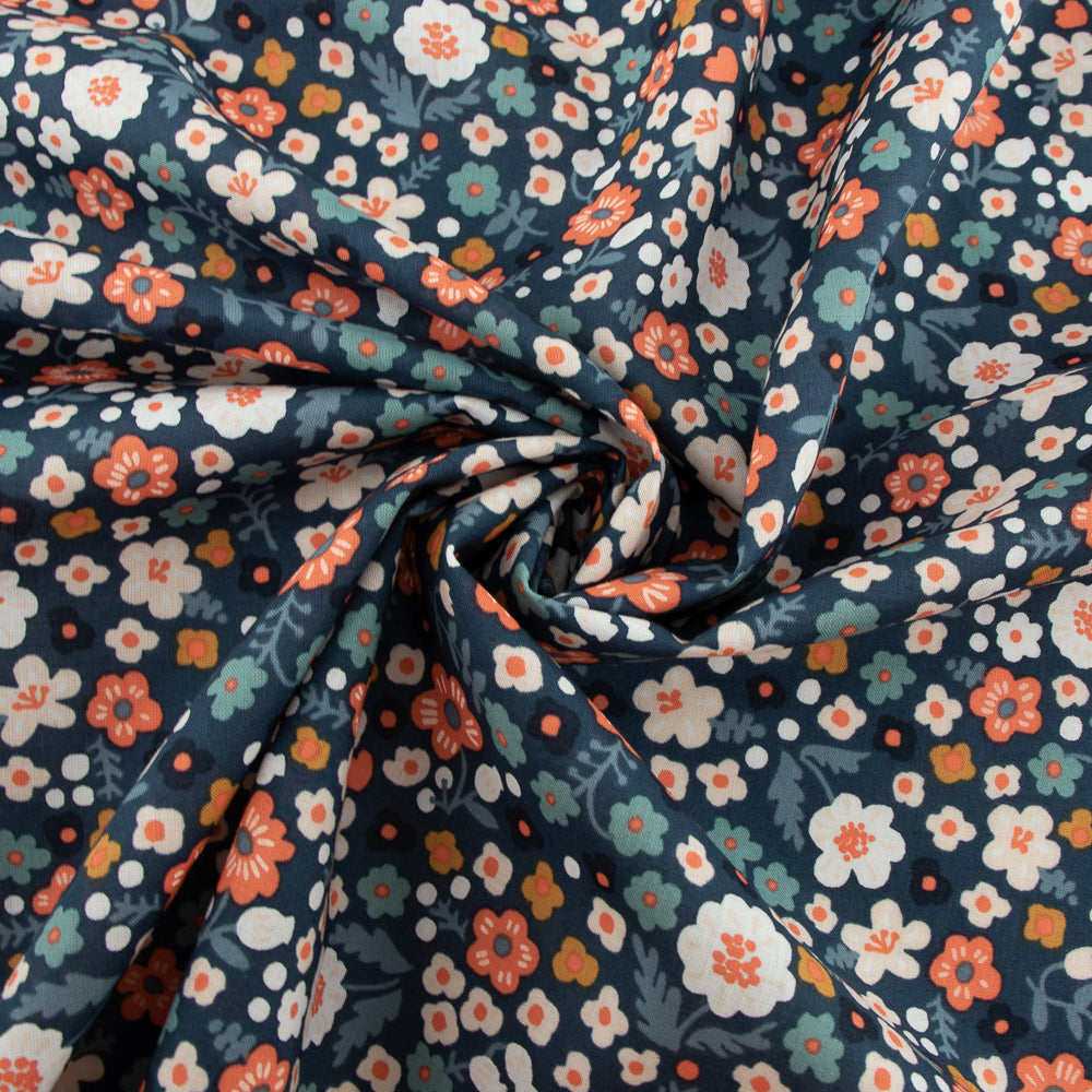 Bella Cotton Lawn, Bella Petite in Denim Blue