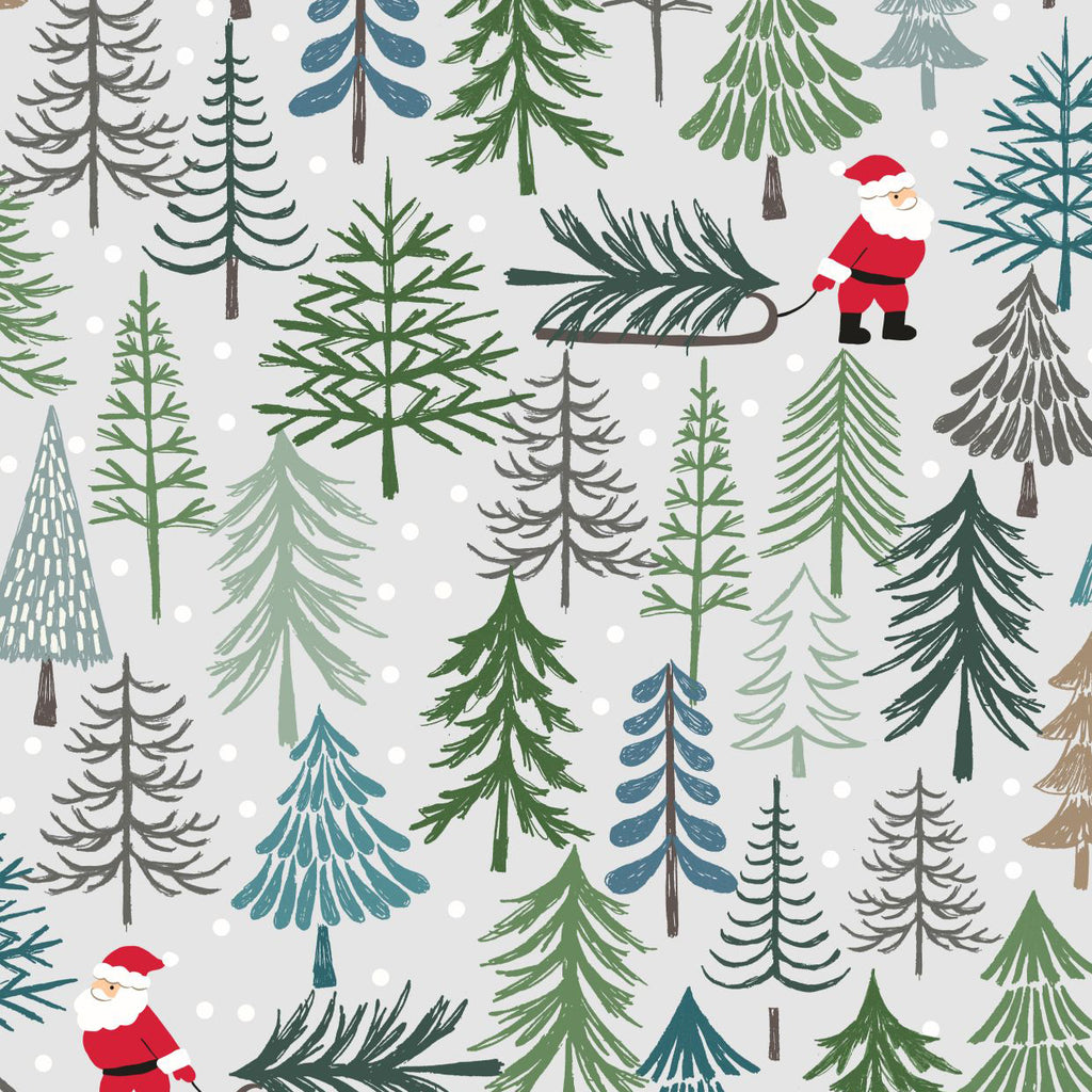 Christmas Trees, Santa's Tree in Lightest Grey