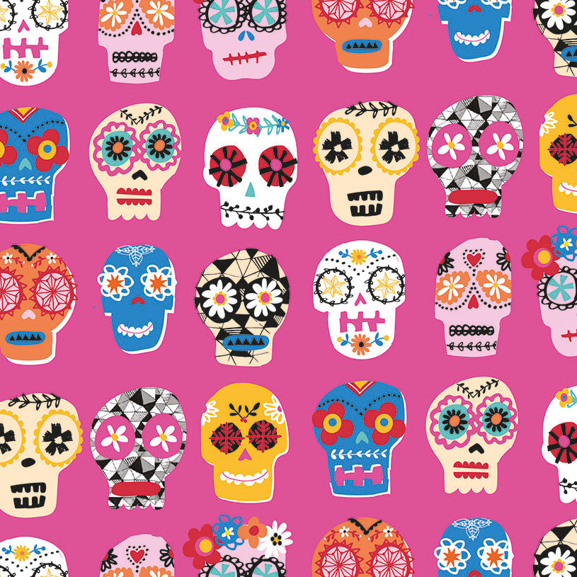 Fiesta, Sugar Skulls in Pink