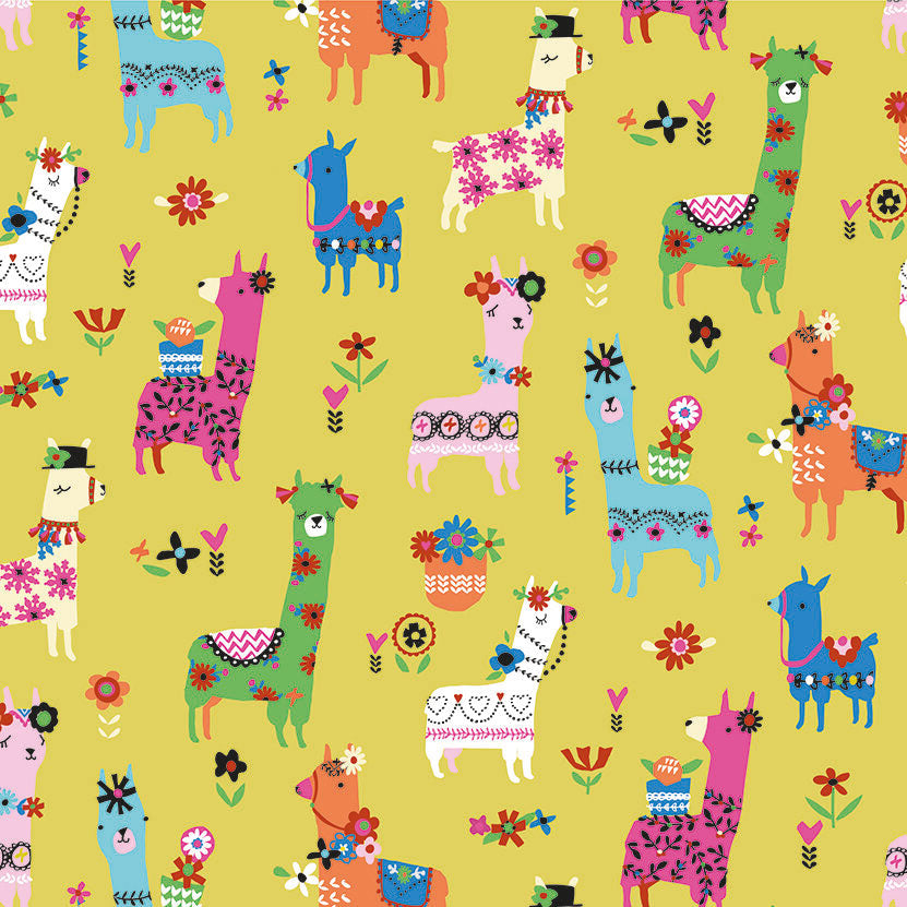 Fiesta, Llamas in Yellow