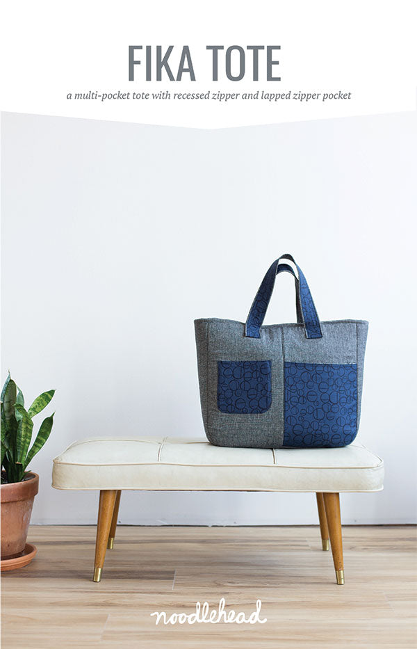 Fika Tote sewing pattern by Noodlehead