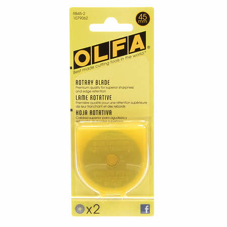 Olfa 45mm Rotary Blade refill (2-pack)