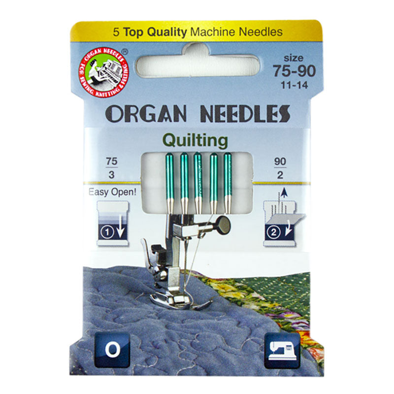 OrganⓇ Quilting Machine Needle Assortment - 75/11 & 90/14 - Eco Pack (5 needles per pack)