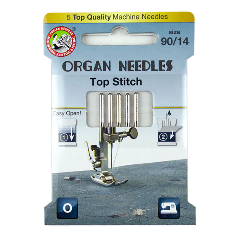 OrganⓇ Top Stitch Machine Needles - 90/14 - Eco Pack (5 needles per pack)