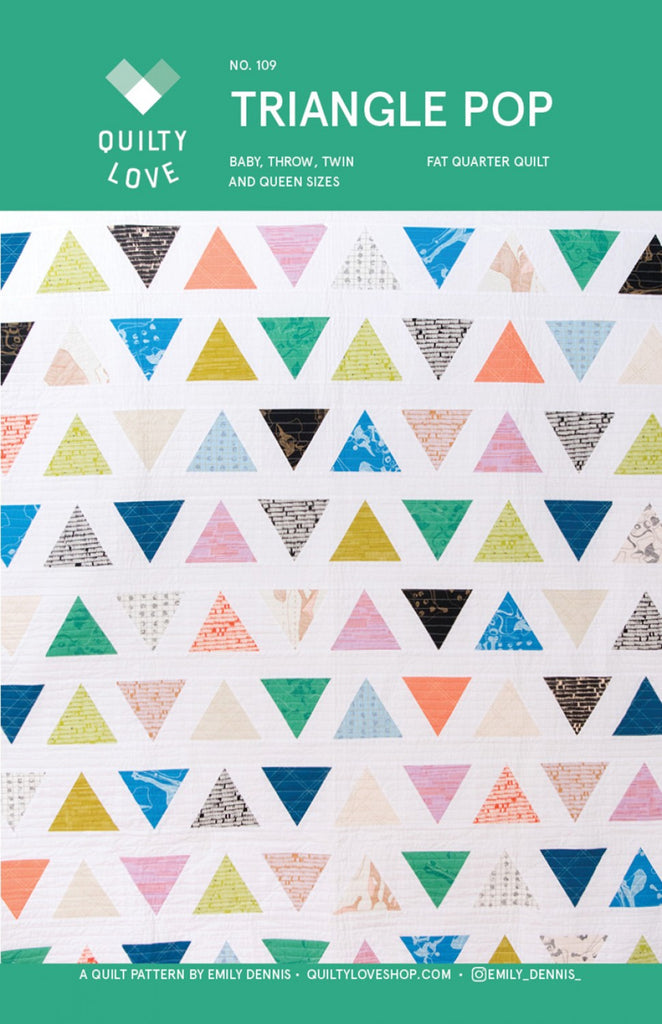 Triangle Pop quilt pattern by Quilty Love
