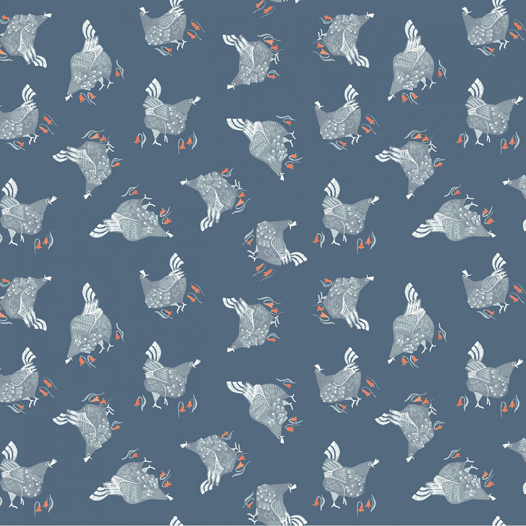 Poppy Prairie, Chickens in Teal