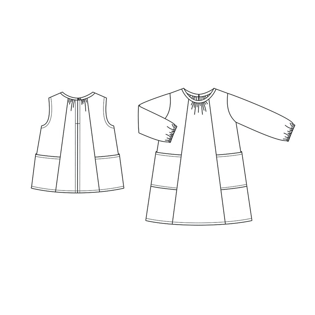 Baby + Child Smock Top + Dress garment pattern by Wiksten