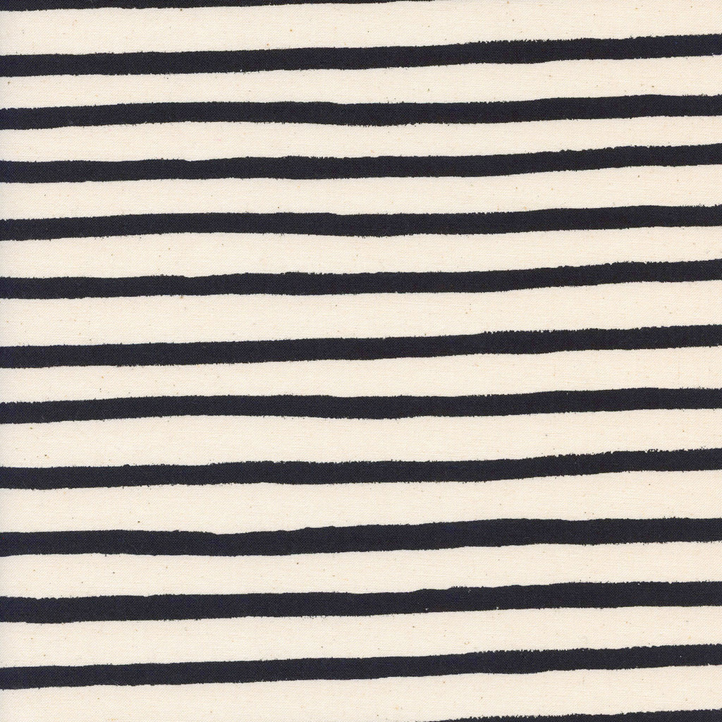 Wonderland, Cheshire Stripe in Unbleached White