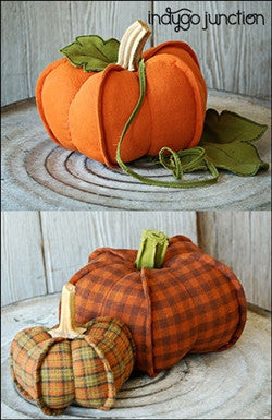 Pumpkin Trio pattern by Indygo Junction - Bloomerie Fabrics - Patterns - 2