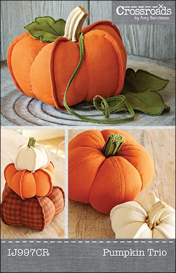 Pumpkin Trio pattern by Indygo Junction - Bloomerie Fabrics - Patterns - 1