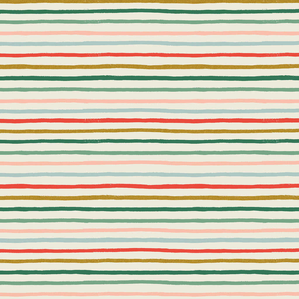 Holiday Classics, Festive Stripe in Multi Metallic (PREORDER)