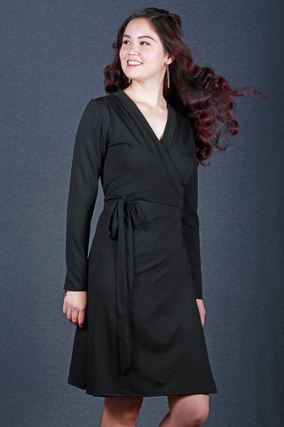 Anke Wrap Dress Black