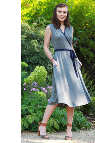 Catherine Wrap Dress Grey