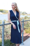 Catherine Wrap Dress Navy