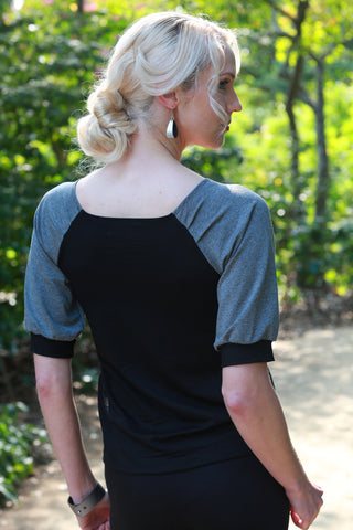 Haru Top Black/Charcoal
