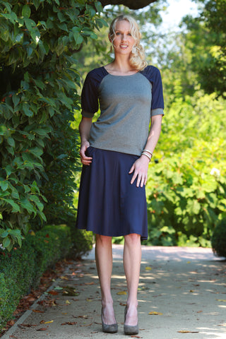 Haru Top Charcoal/Navy
