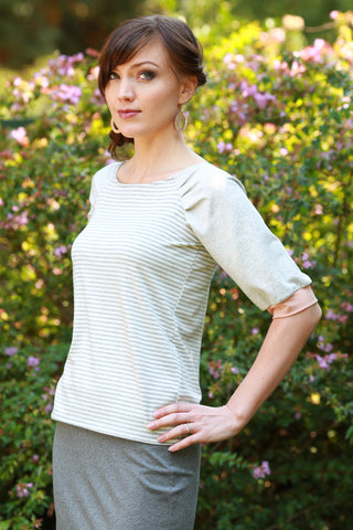 Haru Top Stripe/Oatmeal