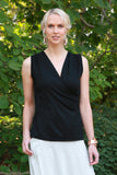 Kasa Wrap Top Black