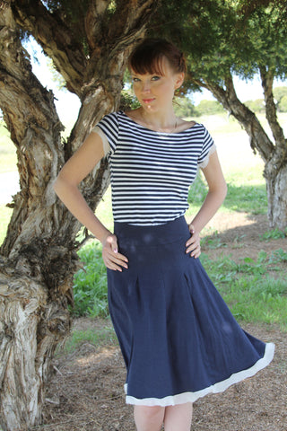 Liana Skirt Midnight Blue