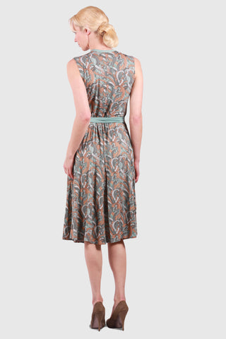 Catherine Wrap Dress Waves