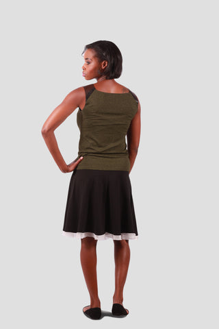Juliet Tank Dark Olive