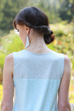 Rei Tank Top Light Blue/Light Grey