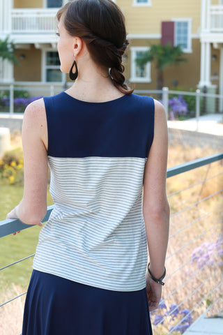 Rei Tank Top Stripe/Navy