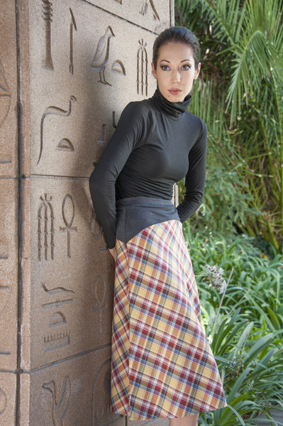 Moretta Plaid Skirt