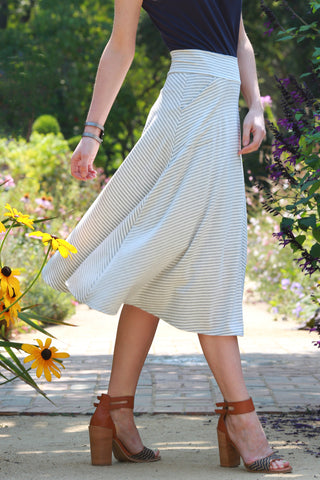 Yumi Midi Skirt Stripes