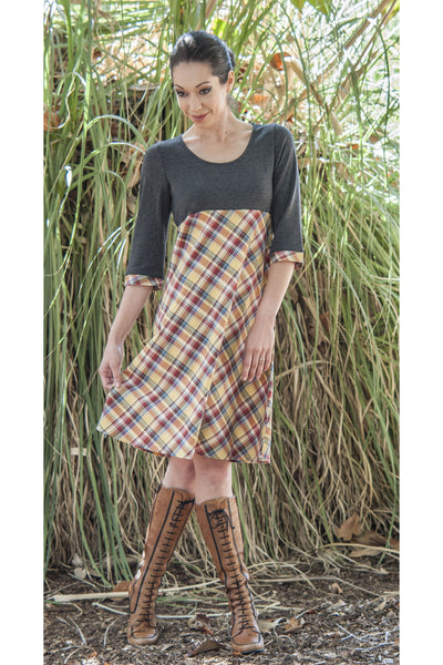 Genoa Plaid Dress