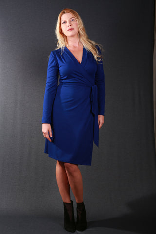 Anke Wrap Dress Blue